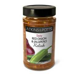 Atkins & Potts Red Onion & Jalapeno Relish 250g