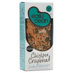 Easy Bean Chickpea Crispbread Seeds & Black Pepper 110g (GF)