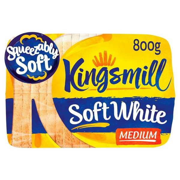 Kingsmill White Medium 800g